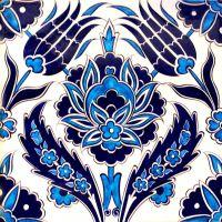Iznik Ceramic Tile Floral Design - Buy Iznik Tile Product ...