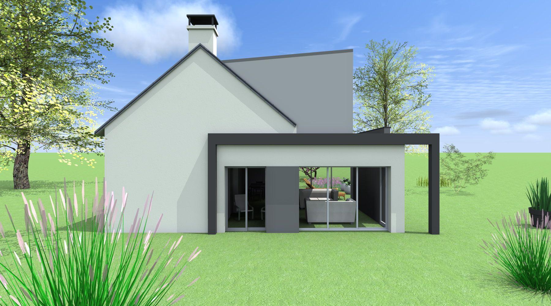 id e extension maison toit plat ventana blog. Black Bedroom Furniture Sets. Home Design Ideas