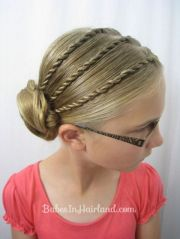 cool braided updo girls