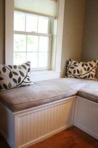 Custom Window Seat and Upholstered Cushions for Master ...