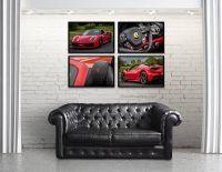 Set of 4 Ferrari 488 spider car photography/garage decor ...