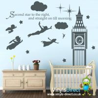 Disney Peter Pan Big Ben Wall Decal Sticker | For the Home ...