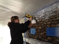 Paint a Porous and Ugly Stone Fireplace - iloverehabs.com ...