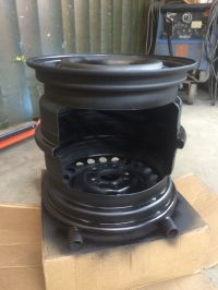 My version of the steel wheel fire pit | Metal Crafts ...