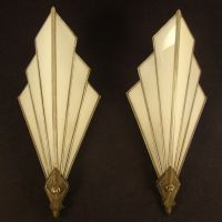 Art Deco Lamps Antique | These 1920's leaded white opaque ...