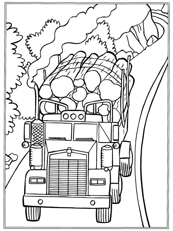Coloring page Trucks Trucks on Kids-n-Fun.co.uk. On Kids-n