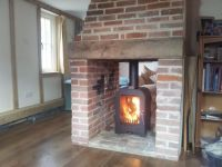 brick fireplaces for double sided wood burners