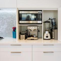 Bi Fold Kitchen Cabinet Doors Cabints Appliance Pantry White Modern Www