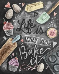 Here is the finished design for my baking lovers!! It's ...