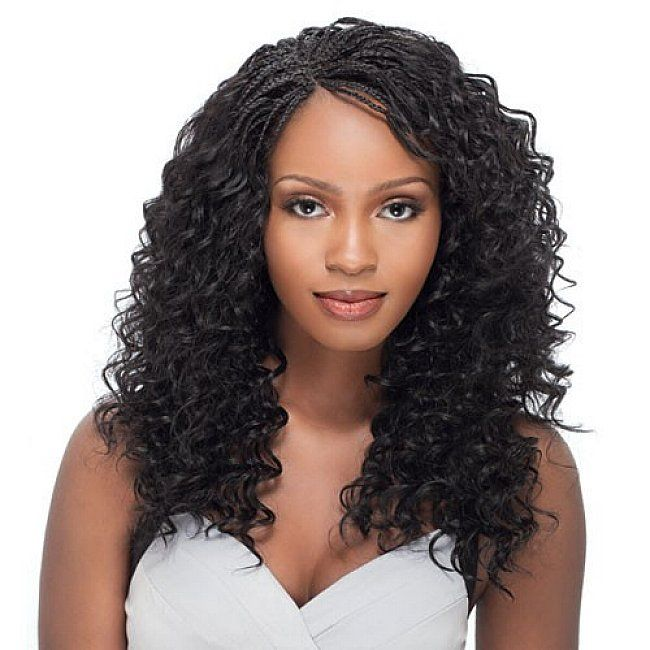 Micro Braids Hairstyles With Long Curly Hair For Black Women