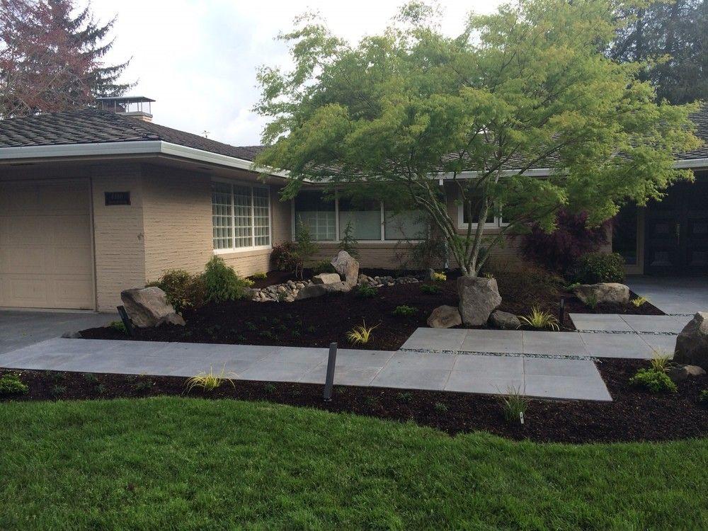 Mid Century Modern Landscape Design Ross NW Watergardens