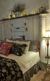 Old doors headboard | french farmhouse | Pinterest | Door ...