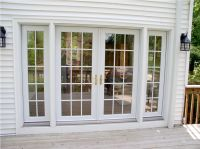 French Doors with Sidelights and Blinds between Glasses ...