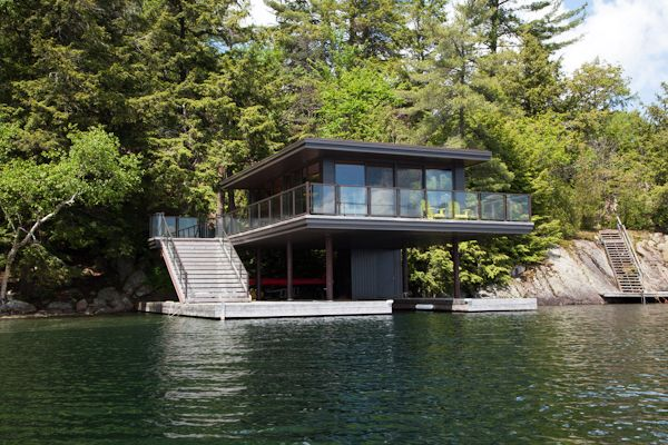 Boathouse By Level Design Build Barrie Cottage Pinterest