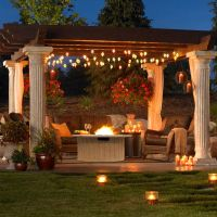 Outdoor GreatRoom Tuscan Gas Fire Pit Table - Propane Fire ...