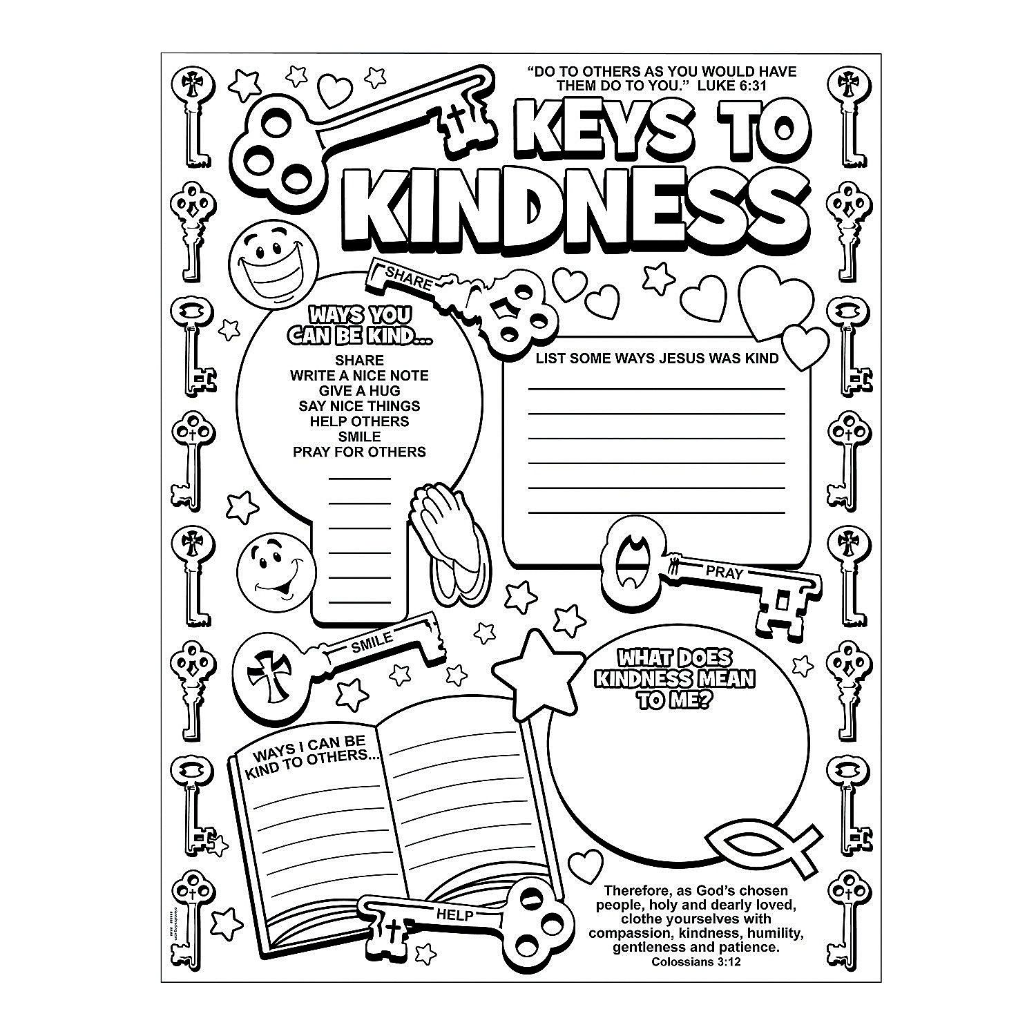 "Color+Your+Own+""Key+to+Kindness""+Posters+-+OrientalTrading"