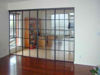 Cold rolled steel flat bar sliding door frames, tempered ...
