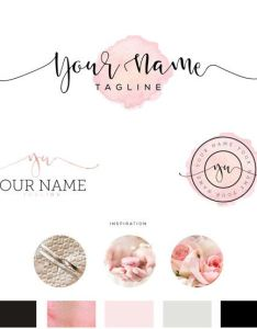 Beautiful Premade Logo Design For Bloggers Photographers Florists Event Planners Boutiques Also Best Images About Carte
