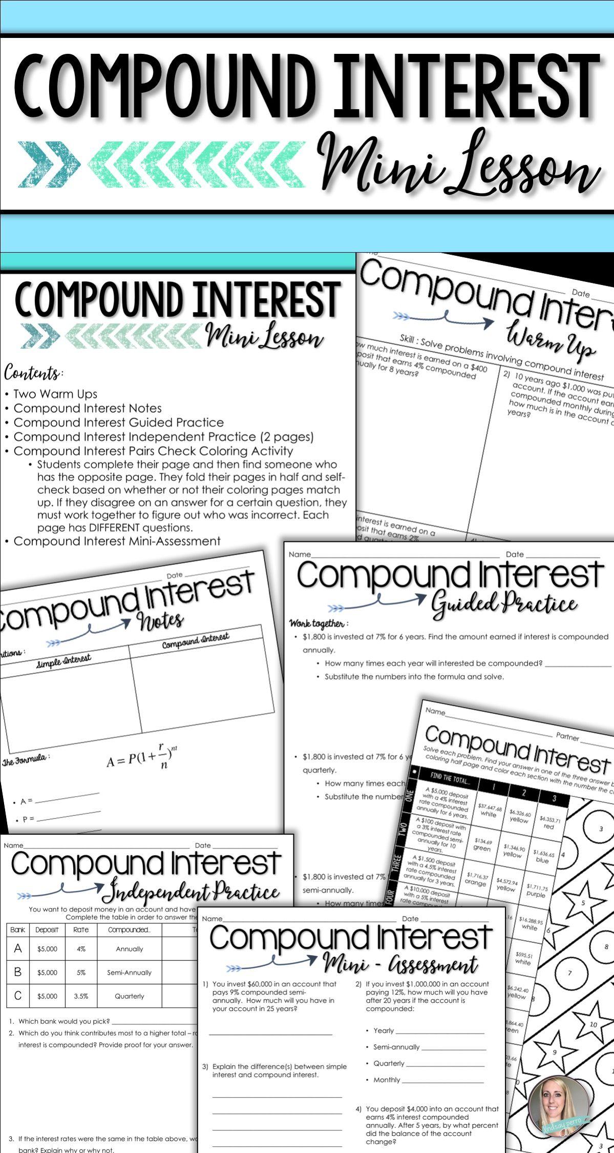 Compound Interest Mini Lesson