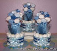 Diaper-Bouquets.JPG - Boy Baby Shower Table Decorations ...