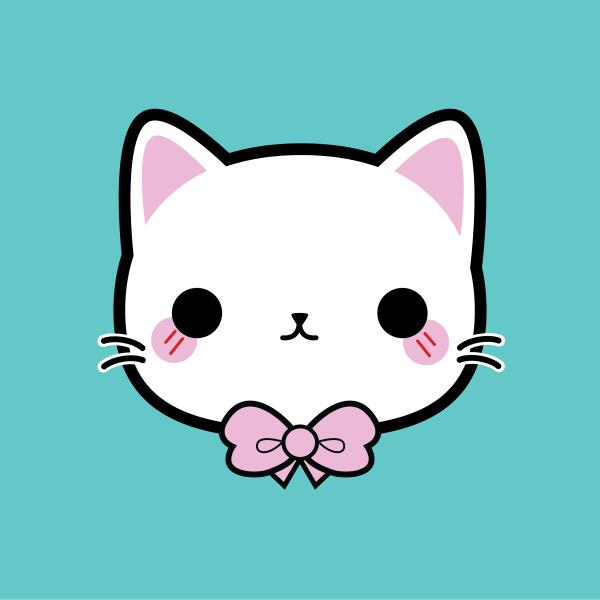 Bow Kitty #kawaii #cute #illustration #kitty #bow #vector