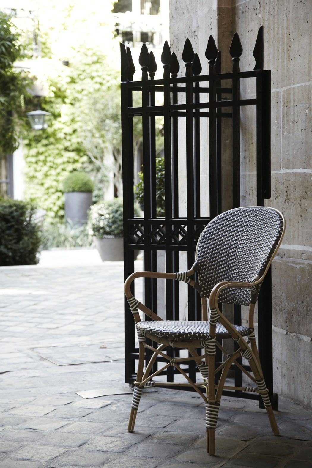 French Rattan Bistro Chairs Sika Design Isabell Armchair From The Affaire Collection