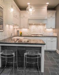 Natural stone kitchen floor tile - Adoni Black Slate Floor ...