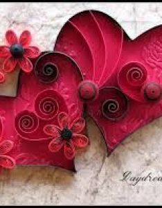 Paper quilled hearts by daydreams also flag united kingdom quilling recherche google saint rh pinterest