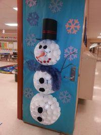 Snowman door decoration - dubbed Mr. Sparkles by my ...