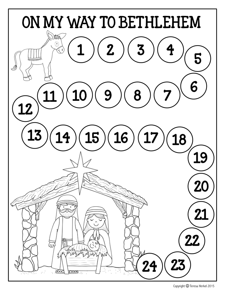 FREE Advent Calendar! Travel with the little donkey each