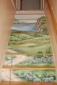 Great Staircase Murals Painting Ideas | murali | Pinterest ...