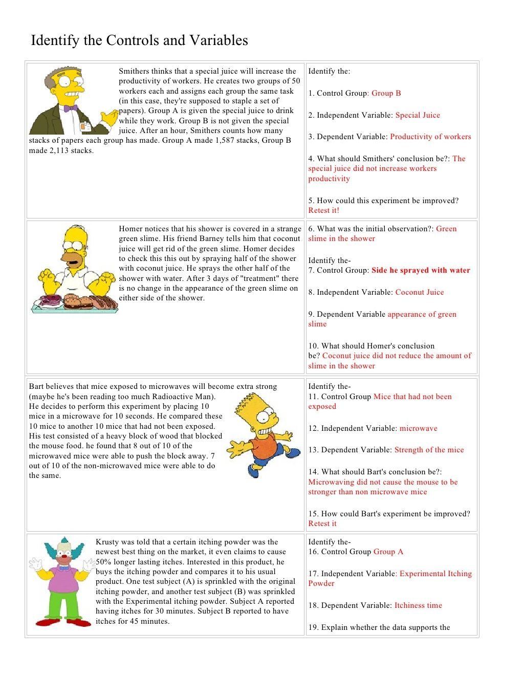 Worksheet Mythbusters Scientific Method Worksheet Grass Fedjp Worksheet Study Site
