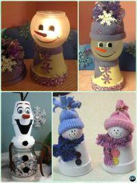 DIY Clay Pot Christmas Craft Ideas Holiday Decoration ...