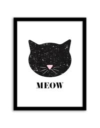 Free Printable Sequin Cat Wall Art | Free printable ...