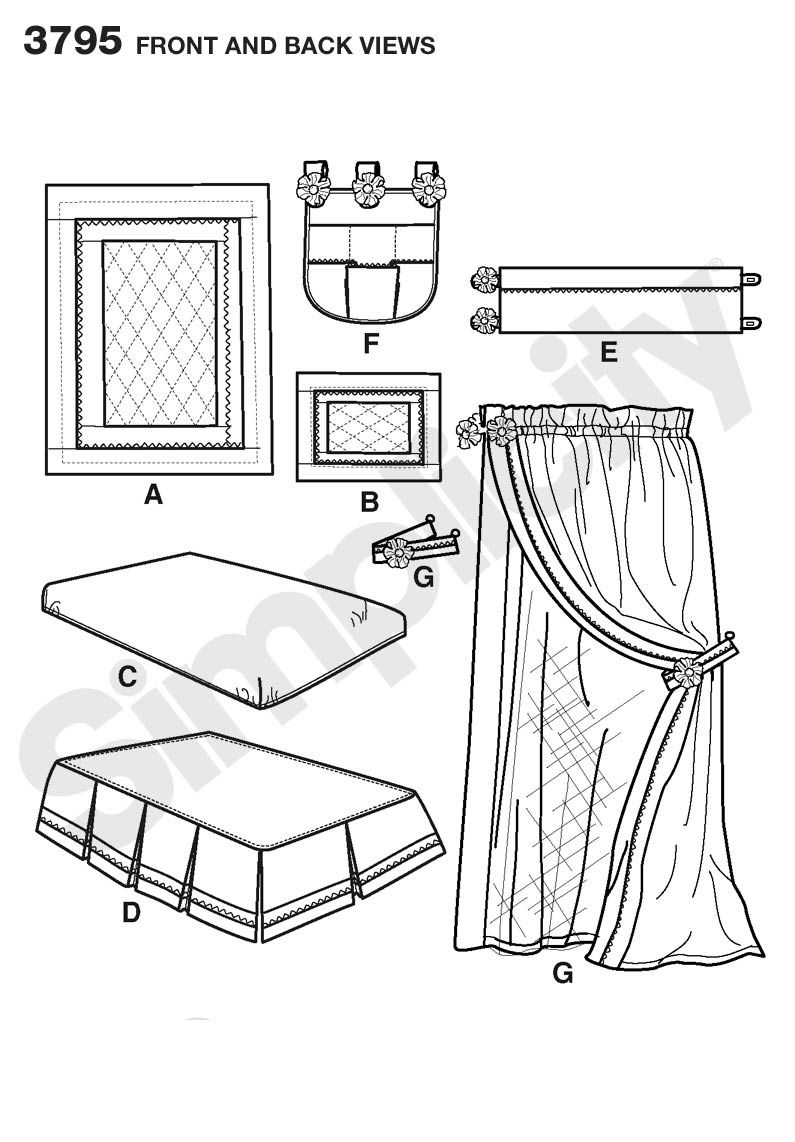 Nursery: Quilt, Bumpers, Sheet Sewing Pattern 3795