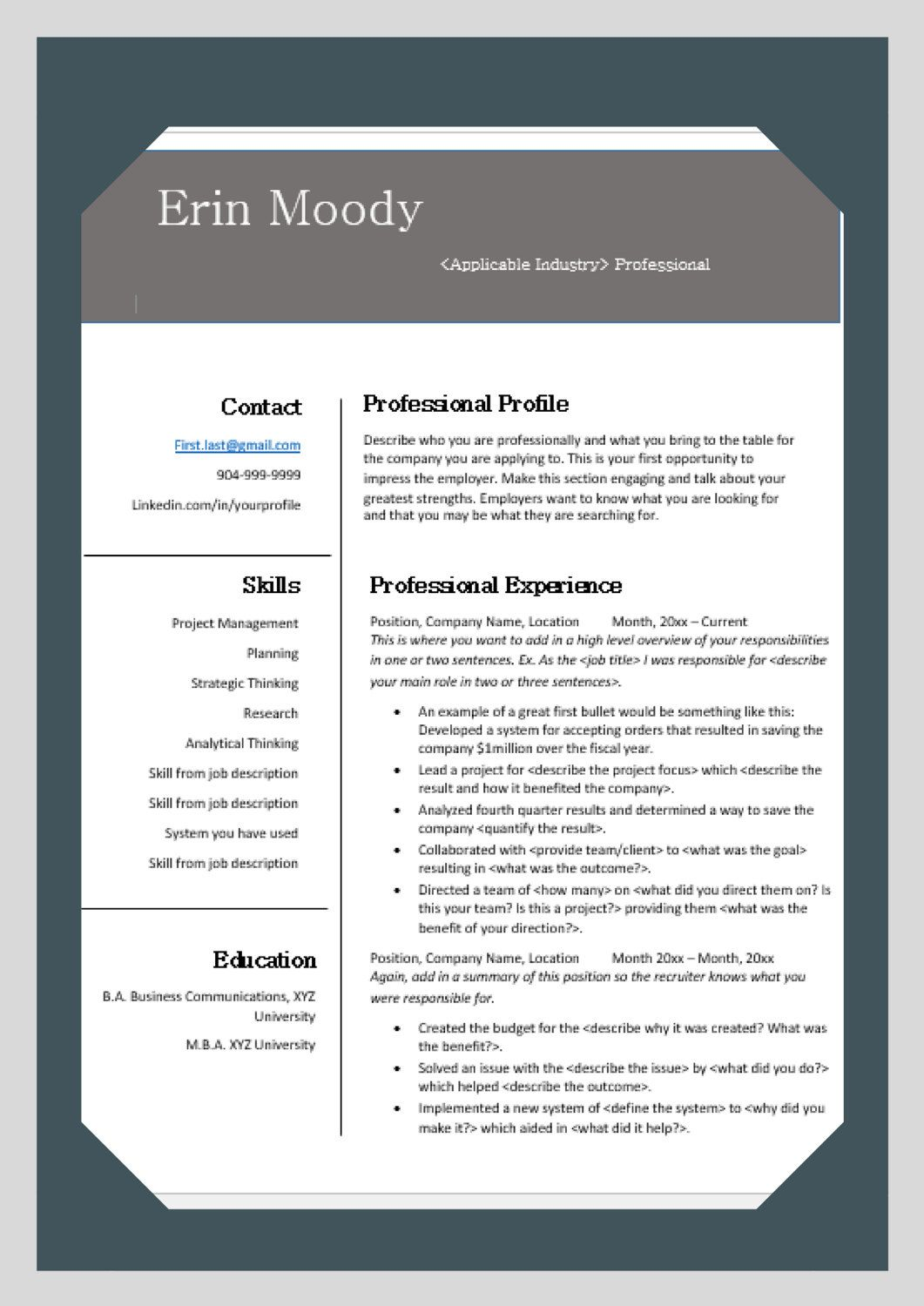 Perfect Resume Layout The Perfect Resume Cornerstone For Your Job Search By