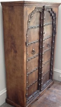 Hand-crafted Indian cupboard, hardwood frame with superb ...