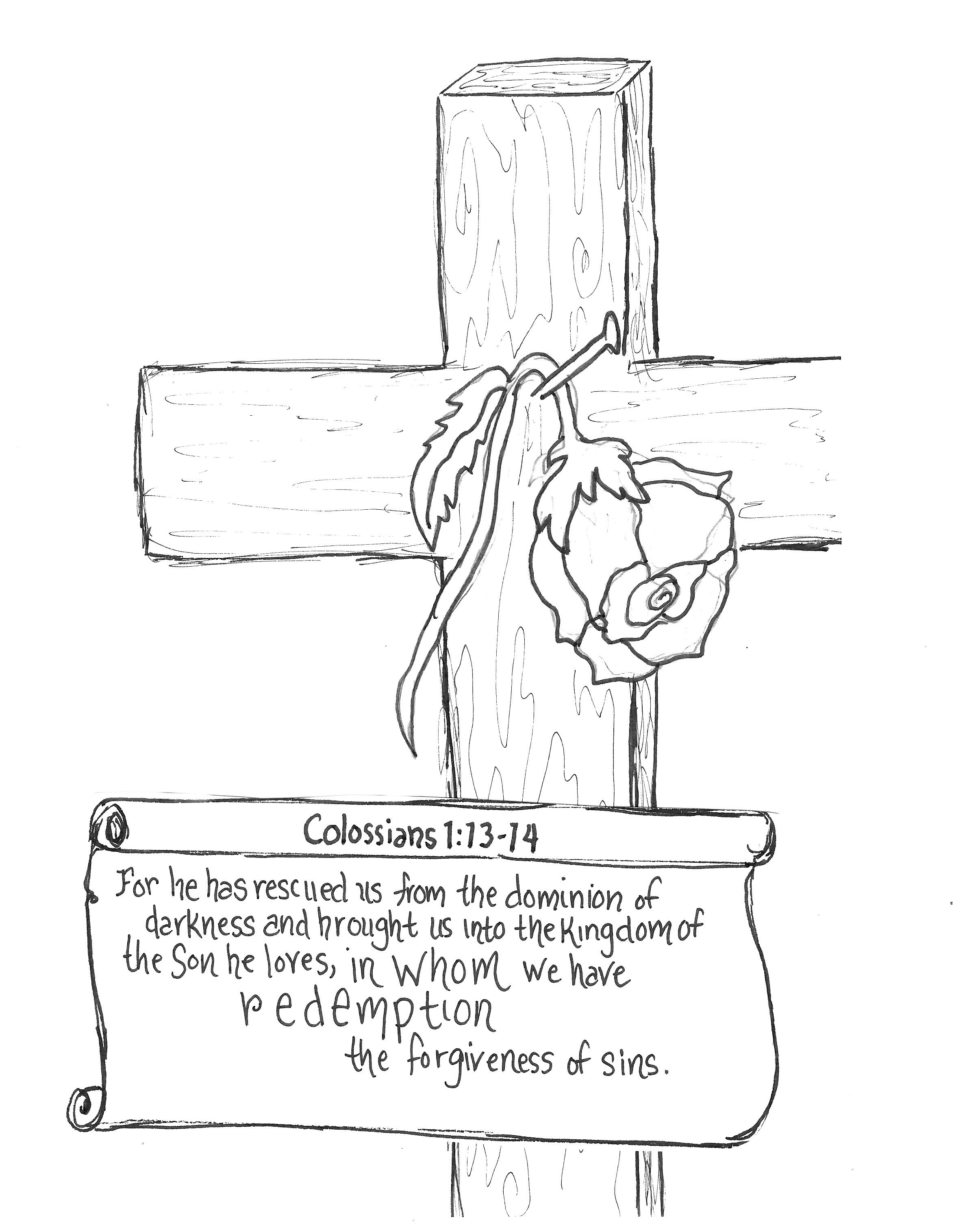 FREE Coloring Printable Page 8x10 Journal Scripture