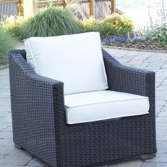 Black Patio Chairs Chair Covers For Legs Wicker Outdoor Portafina Forest Finish