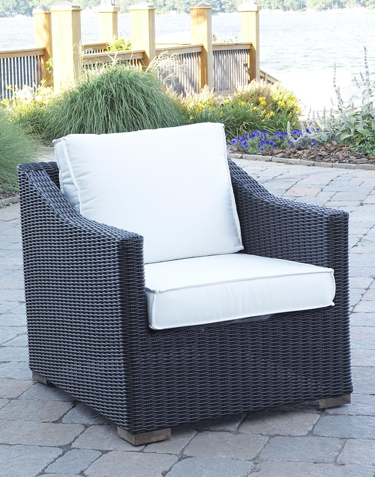Black Patio Chairs Patio Wicker Outdoor Portafina Chair Black Forest Finish