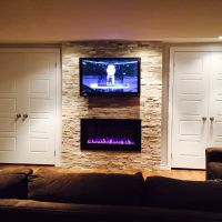 "42"" TV and Napoleon Electric Fireplace with beachwood ..."