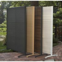 Portable Outdoor Wicker Privacy Partition for Backyards ...