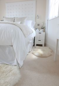 Airy, bright bedroom with beautiful cream carpet by Hardy ...