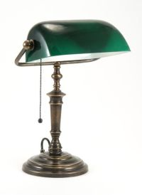 Classic Bankers Lamp With Glass Green Shade Is Hand Made ...