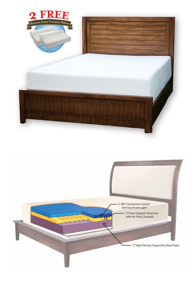 Mattresses 131588 8 Cool Medium Soft Memory Foam Mattress Twin Full Queen