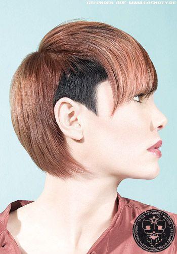 Extravaganter Undercut In Zwei Farben Frauen Frisuren Bilder