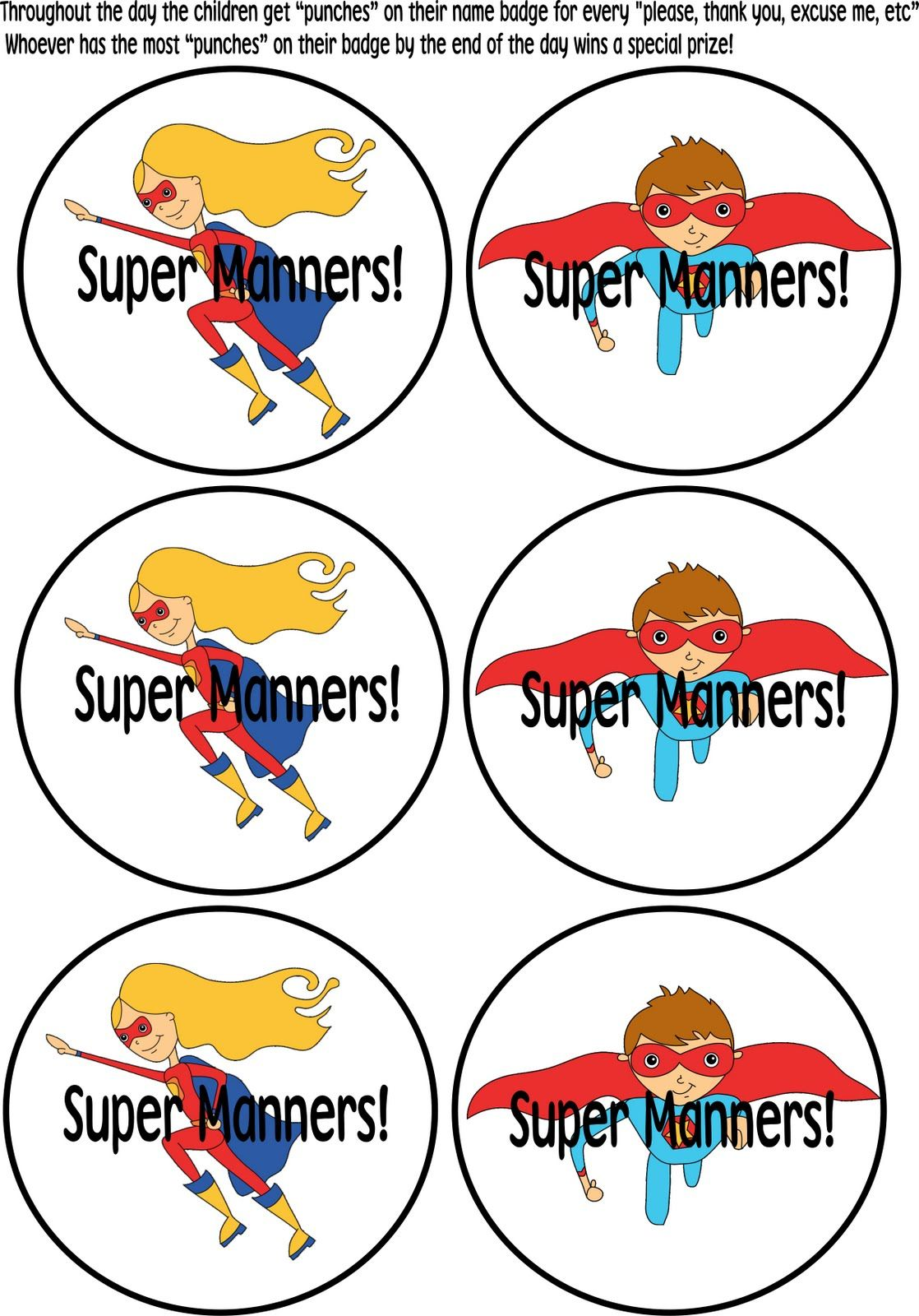 Mind Your Super Manners Perfect Awards For The Cafeteria This Year