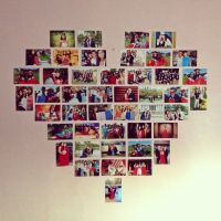 Picture heart collage! Perfect room decor