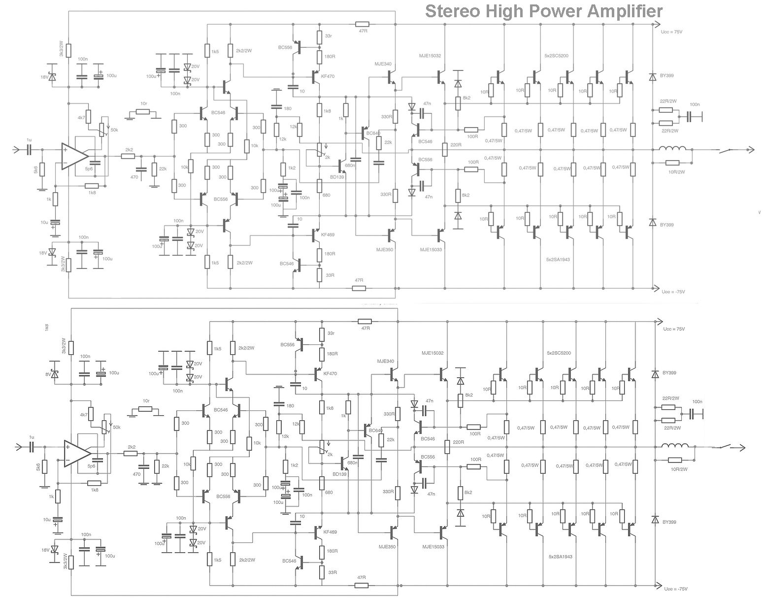 Lm386 Audio Amplifier Circuit Universal Line Audio Amplifier Tda2030