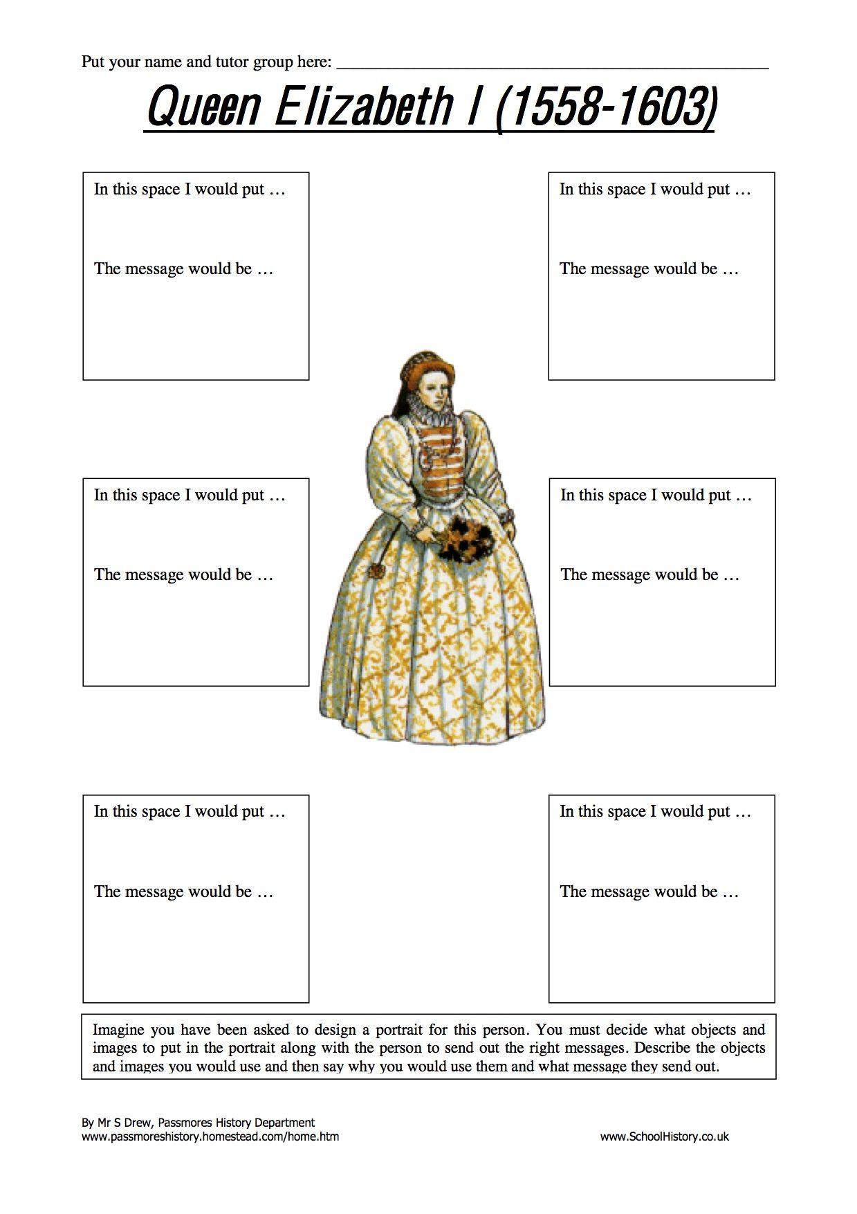 Elizabeth I Worksheets